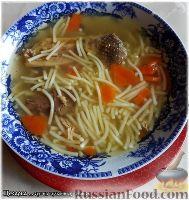 Фото к рецепту: Суп из бульонных «кубиков» (суп из цесарки)