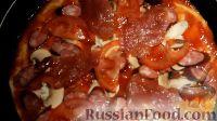 Фото приготовления рецепта: Пицца на сковороде - шаг №13