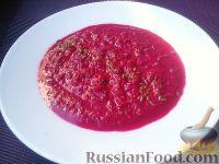 Фото к рецепту: Свекольный крем-суп с рисом