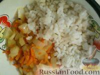 Фото приготовления рецепта: Болгарский перец, запеченный с рисом и овощами - шаг №5