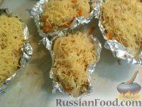 Фото приготовления рецепта: Болгарский перец, запеченный с рисом и овощами - шаг №8