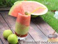 Фото к рецепту: Смузи с арбузом, сливами и яблоком
