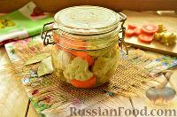 Фото к рецепту: Консервированная цветная капуста (заготовка на зиму)