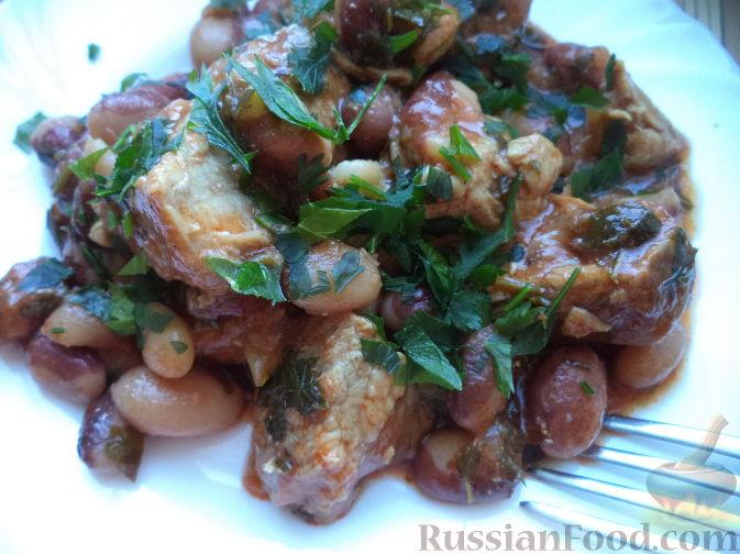 Свинина с фасолью пошаговый рецепт с фото