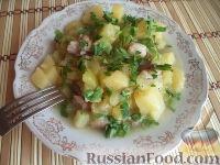 Фото к рецепту: Кабачки, тушенные с картофелем и мясом