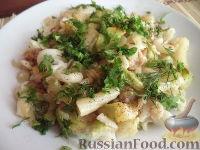 Фото к рецепту: Жареные кабачки с макаронами