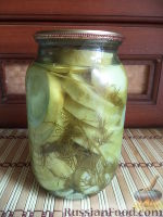 Фото к рецепту: Кабачки консервированные кружками