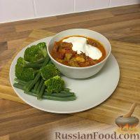 Фото к рецепту: Пикантное рагу из свинины с чоризо