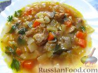 Фото к рецепту: Суп с жареным мясом, вермишелью и паприкой