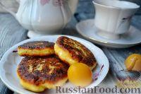 Фото к рецепту: Сырники с алычой (на сковороде)