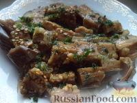 Фото к рецепту: Баклажаны, соленые с чесноком