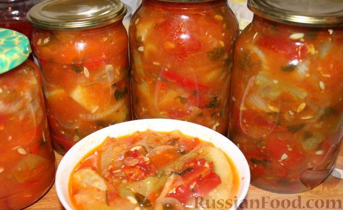 салат в зиму из огурцов и помидоров фото рецепт