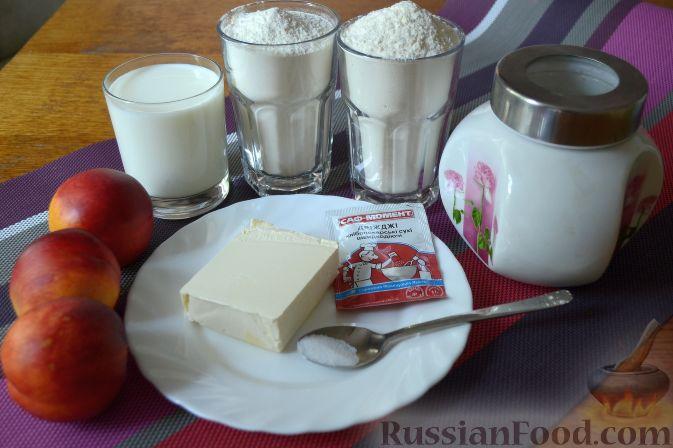 Фото приготовления рецепта: Дрожжевой пирог с нектаринами - шаг №1
