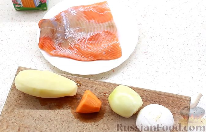 рецепт сливочный суп с морепродуктами
