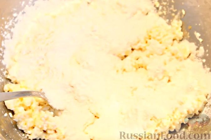 Фото приготовления рецепта: Сметанные лепёшки из дрожжевого теста (в духовке) - шаг №11