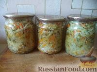Фото к рецепту: Салат из капусты, сладкого перца, моркови и лука