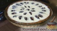 Фото к рецепту: Пирог со сливами в сметанной заливке
