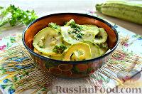 Фото к рецепту: Малосольные кабачки