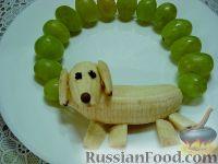 """Фото приготовления рецепта: Детский салат """"Гав-гав"""" с виноградом - шаг №5"""