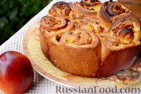 Фото к рецепту: Дрожжевой пирог с нектаринами