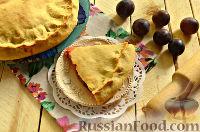 Фото к рецепту: Пирог со свежими сливами