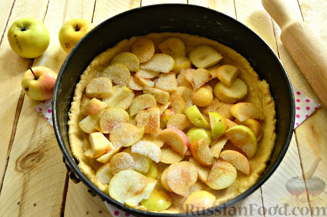 рецепт пирога с яблоками в духовке на кефире