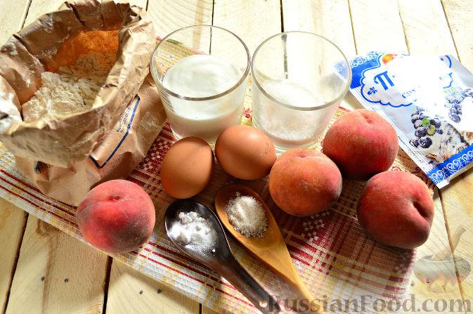 Фото приготовления рецепта: Пирог с персиками - шаг №1