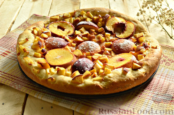 Фото приготовления рецепта: Пирог с персиками - шаг №11