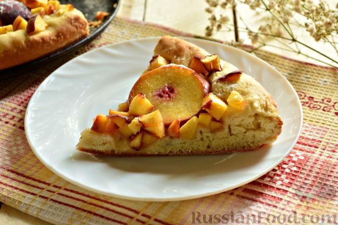 Фото приготовления рецепта: Пирог с персиками - шаг №12