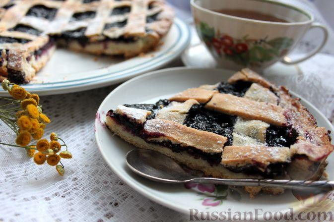 Пирог с черникой из сдобного теста рецепт 103