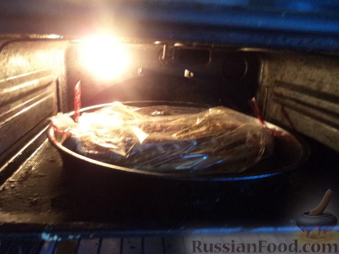 Грудинка свиная запеченная в духовке рецепт с фото в рукаве