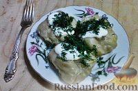 Фото приготовления рецепта: Манты с тыквой - шаг №17