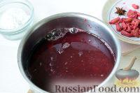 Фото приготовления рецепта: Кисель из кизила - шаг №5