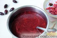 Фото приготовления рецепта: Кисель из кизила - шаг №6