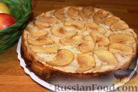 Фото к рецепту: Яблочно-творожный пирог