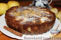 Фото к рецепту: Овсяный пирог с яблоками и изюмом
