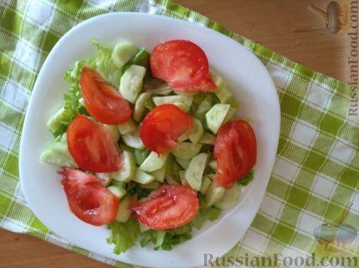 рецепт салат с копченой курицей огурец