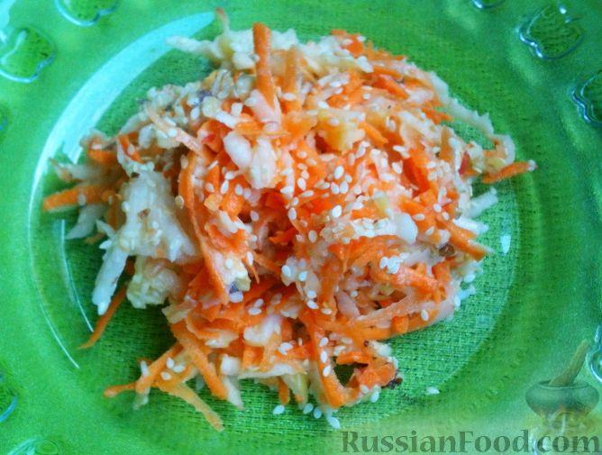 Фото к рецепту: Витаминный салат с кунжутом