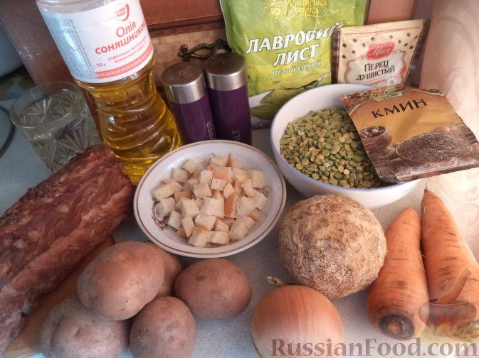 Как приготовить суп гороховый с копченостями