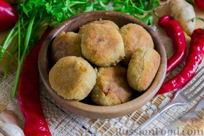 Фото к рецепту: Котлеты из топинамбура