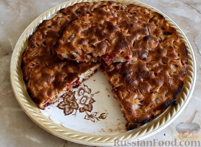 рецепт в мультиварке пирог со сливами рецепт фото