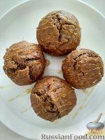 Фото к рецепту: Бананово-шоколадные маффины со сметаной