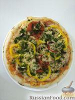 Фото к рецепту: Пицца с бужениной и грибами