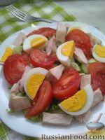 Фото к рецепту: Легкий салат с копченой курицей