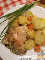Фото к рецепту: Курица, запеченная в сливках