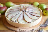Фото к рецепту: Цветаевский пирог с грушами