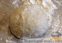 Фото к рецепту: Тесто для вареников и пельменей (без яиц)