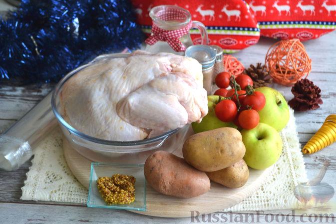 запеченная курица в духовке целиком рецепт пошаговый