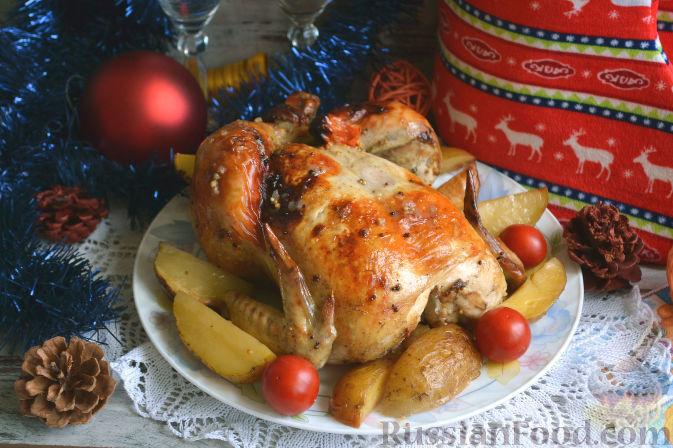рецепт приготовления курицы целиком в духовке фото рецепт