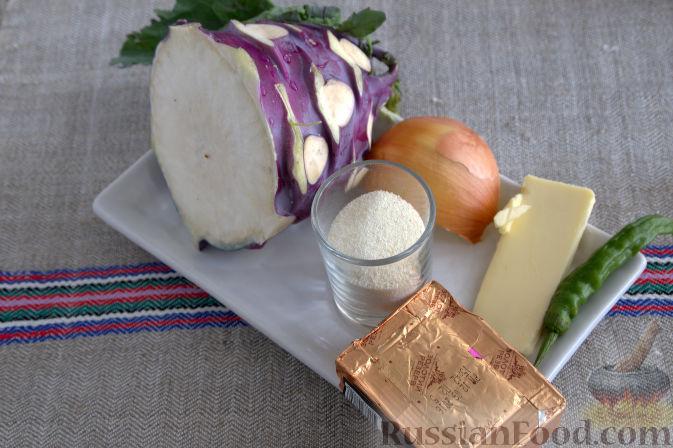 Фото приготовления рецепта: Крем-суп с кольраби и плавленым сырком - шаг №1